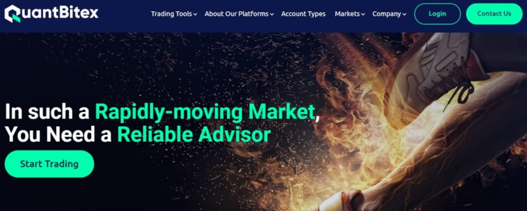Quantbitex home page