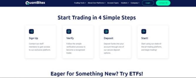 Quantbitex Easy Deposit